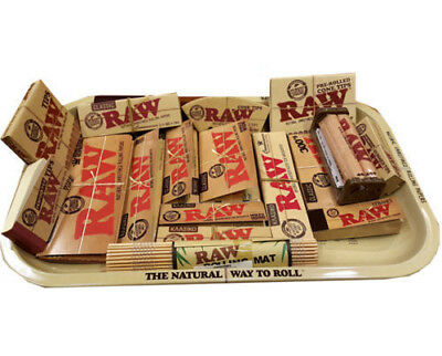 AUTHENTIC RAW Papers COMBO Tray + Papers +Tips + Rolling Machine