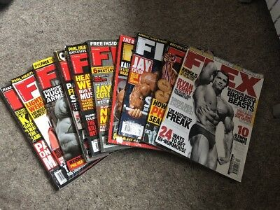 Flex Magazine Bundle (10 Magazines) *Used*