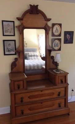 Victorian Style Antique Dresser or Chest with Mirror