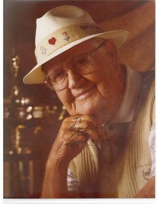 Byron Nelson signed 8x10 color photo