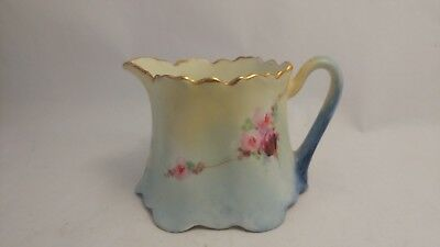Zeh Scherzer & Co ZS & CO Bavaria Hand Painted Red & Pink Roses Creamer
