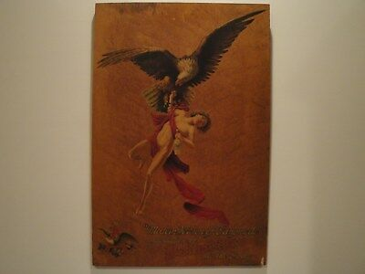 """Budweiser Ganymede Advertisement on Wood  """"introduction of Budwiser to the Gods"""""""