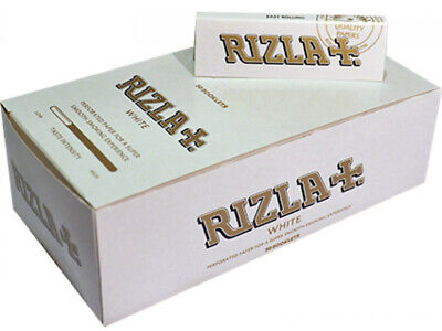 1x Box Rizla White Rolling Paper Full Box ( 50 Booklets)