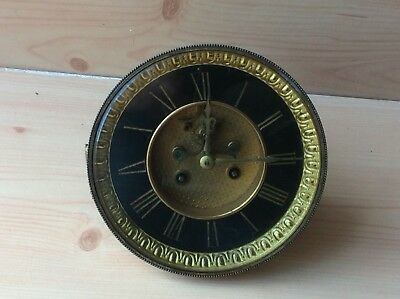 Antique Clock Face And Movement For Repair And Restoration