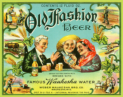 Weber Waukesha Brewing Old Fashion Beer T Shirt Wis Sizes Small-Xxxlarge (F)