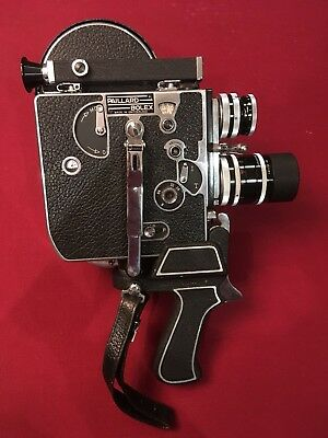 Paillard Bolex H16 Vintage Movie Camera. In Travel Case With Parts And Manual