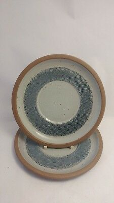 "Pair of Midwinter Denim - Blue & Brown 7 1/2"" Gravy Boat Underplates ONLY"