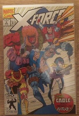 X Force #8 First 'real' Domino App Nm