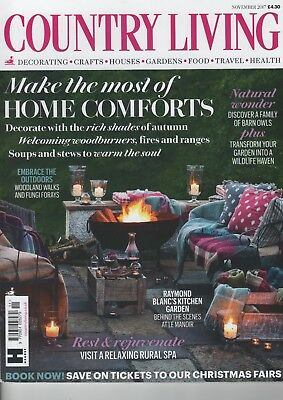 Country Living Magazine November 2017 In Perfect Clean Condition