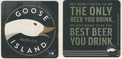 2 NEW Sous Bocks bierdeckel coaster GOOSE ISLAND Beer, bière India Pale USA IPA