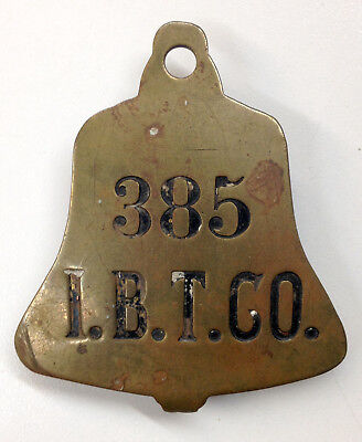 Antique Illinois Bell Telephone Company (I.b.t.) Badge