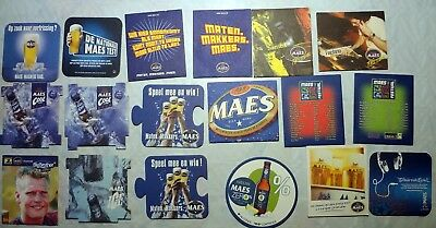 Beau lot 61 Sous Bocks coaster Belges Haacht, Hopus, MAES, JUPILER etc 9 scans