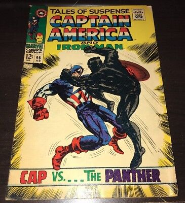 Tales Of Suspense #98 FN+ Cap Vs. Black Panther Marvel Silver Age Comic Movie