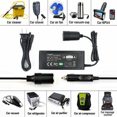 110 to 12 volt Converter 110~220V AC to DC 12v 7.5A 90W Adapter Car Cigarette US