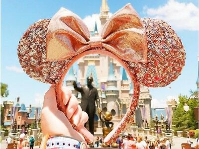 DISNEY Parks ROSE GOLD Minnie Ears Ear Headband SOLD OUT Disneyland