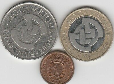 3 different world coins from MOZAMBIQUE