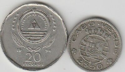 2 different world coins from CAPE VERDI