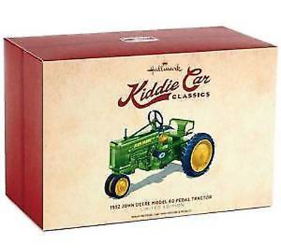 Hallmark 1952 John Deere Tractor Model Pedal Kiddie Car Classics Limited Edition