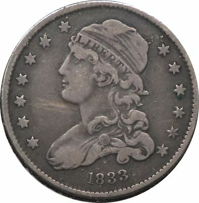 1833 Capped Bust Quarter Silver 25C