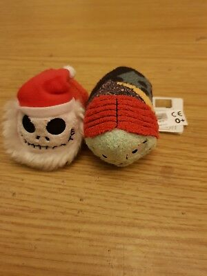 nightmare before christmas tsum tsum pair Sandy claws Jack skellington and Sally