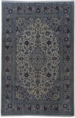 Kashan Signed Hand Knotted Ivory Rug 7x10 Area Rugs Sale 2 440 00