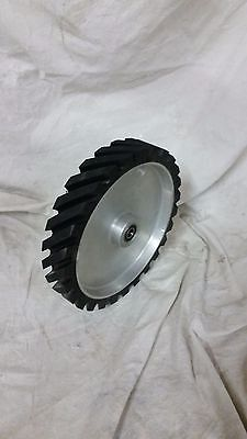 "6"" serrated Contact wheel for 2x72 belt grinder sander, Dynamically balanced"