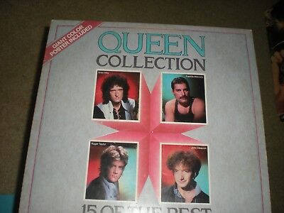 LP QUEEN COLLECTION 15 OF THE BEST  WARNER with large poster NM