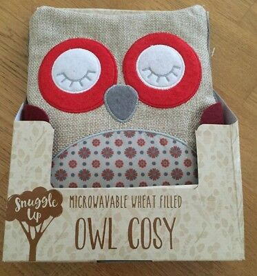 Snuggle up Microwavable wheat filled Owl Cosy. Brand New.