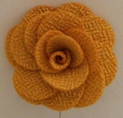 Silver Stemmed Lapel Pin - Yellow
