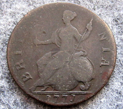 Great Britain George Iii 1771 Half 1/2 Penny, Us Colonial Copper