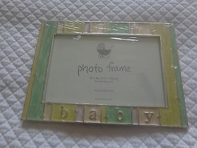 "job lot 6 bnwt baby photo frame 6""x4"" photo"