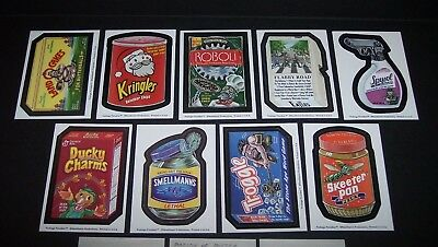 Rare 2010 PACKAGE PARODIES Complete Set + Puzzle sketch card like wacky packs