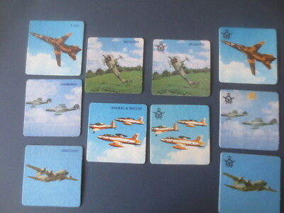 2 complete set of 5 different RAAF FIGHTER  PLANES COASTERS