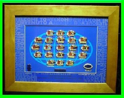 657# * SYDNEY 2000 OLYMPIC GAMES * Mascots & Host Nations ( Framed Pin Set )