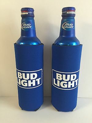 Bud Light Beer Koozie Fits 16 oz Aluminum Can NEW Logo Set Of TWO (2) NEW & FS
