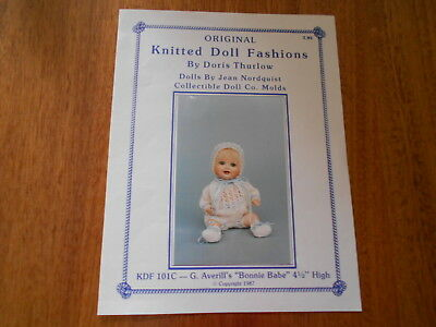 "Knitting Pattern ""bonnie Babe"" 4 1/2"" Doll - Doris Thurlow - Good Condition -"