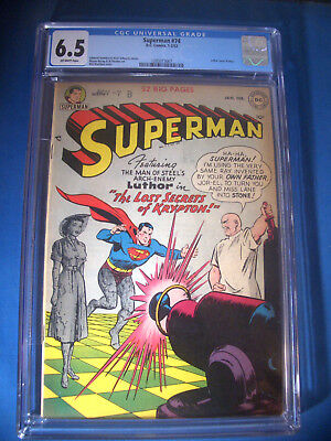 1952 * SUPERMAN #74 * DC Comics * CGC 6.5 FN+ * Rare Off WHITE Pages LEX LUTHOR
