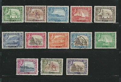 1939 -1948 Daily Views Stamps set of 14 Mint Hinged Except 14AS,2R,5R & 10R used