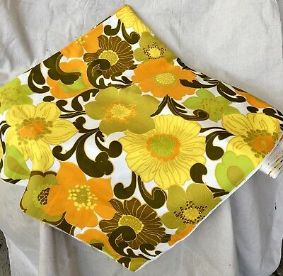 Vintage Retro Large Print Fabric Very Eames Over 6 Meters Bright Colours