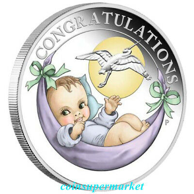Australia 2018 Newborn Baby 1/2oz Silver Proof 50 Cents Coin Colorized Gift!