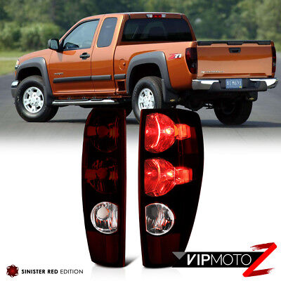 04 12 Chevy Colorado Gmc Canyon Red Smoke Tail Light Brake Rear Signal Lamp Pair