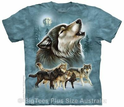 New Old School Wolf Collage Wolves T-Shirt - Label U.S 4XL (Fits AUST 8XL)