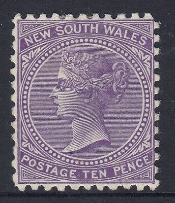 New South Wales   10d Violet  sideface    mint hinged