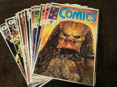 14) 1992 Dark Horse Comics #1-24 Predator Alien Star Wars Robocop Indy - Vf/nm