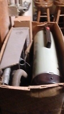Vintage 1950s Hoover Aero Dyne Model 51 Vacuum with Attachments and Instructions