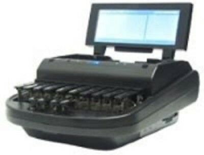 Stylus 2 court reporting writer with microphone and wheeled case. EXCELLENT COND