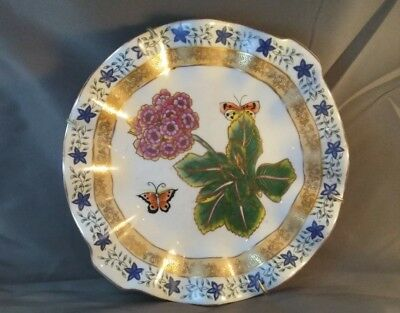 LENOX china BUTTERFLIES & FLOWERS collector plate #1 QUESTIONMARK & ASTOR