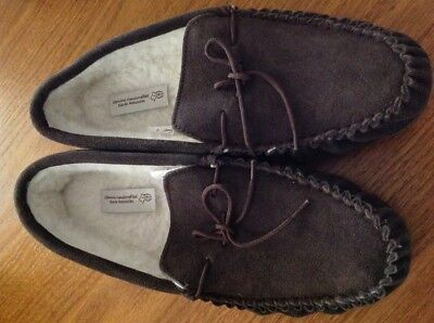 Mens Warm Lined Slippers - Size 13