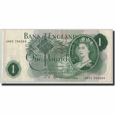 [#315072] Banknote, Great Britain, 1 Pound, Undated (1966-70), KM:374e
