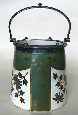 James Mcintyre sugar? container decorated with aesthetic movement motifs